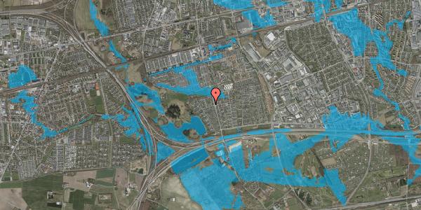 Oversvømmelsesrisiko fra vandløb på Løkketoften 8, 2625 Vallensbæk