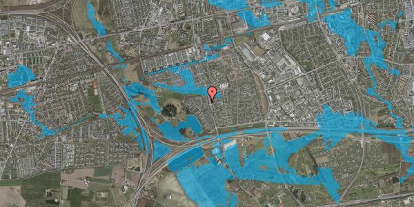 Oversvømmelsesrisiko fra vandløb på Løkketoften 10, 2625 Vallensbæk