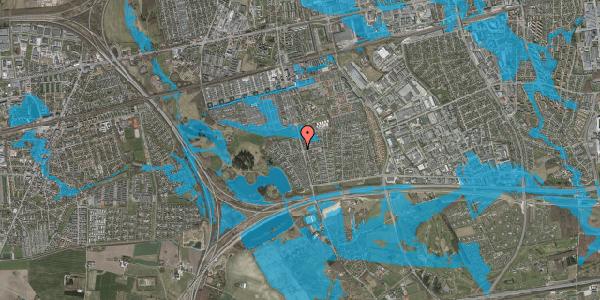 Oversvømmelsesrisiko fra vandløb på Løkketoften 12, 2625 Vallensbæk