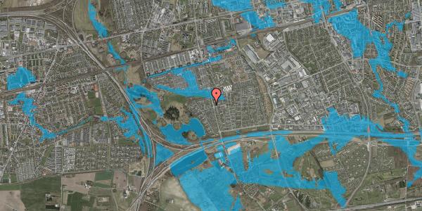 Oversvømmelsesrisiko fra vandløb på Løkketoften 14, 2625 Vallensbæk