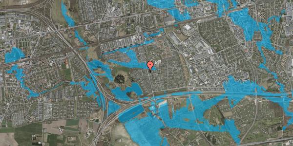 Oversvømmelsesrisiko fra vandløb på Løkketoften 16, 2625 Vallensbæk