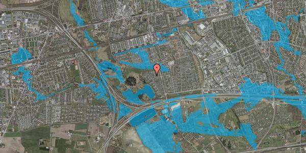 Oversvømmelsesrisiko fra vandløb på Løkketoften 17, 2625 Vallensbæk