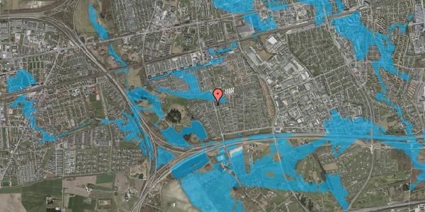 Oversvømmelsesrisiko fra vandløb på Løkketoften 18, 2625 Vallensbæk