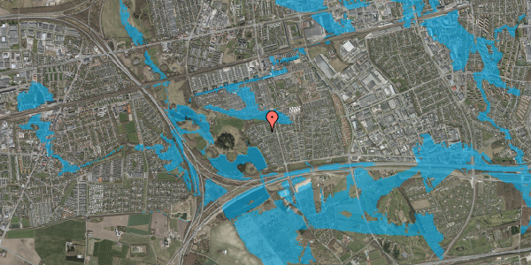 Oversvømmelsesrisiko fra vandløb på Løkketoften 19, 2625 Vallensbæk