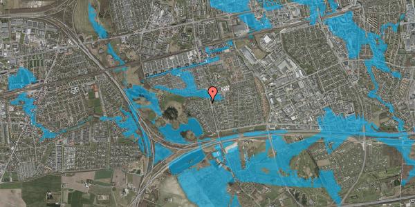 Oversvømmelsesrisiko fra vandløb på Løkketoften 22, 2625 Vallensbæk