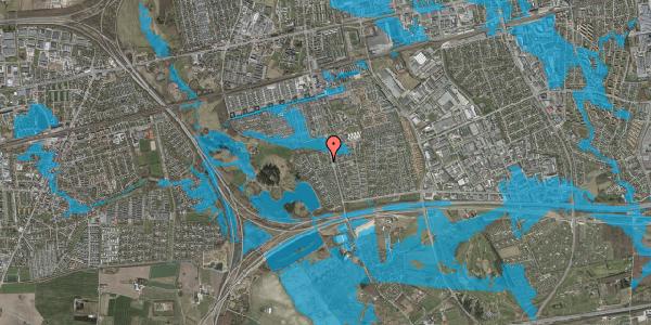 Oversvømmelsesrisiko fra vandløb på Løkketoften 26, 2625 Vallensbæk