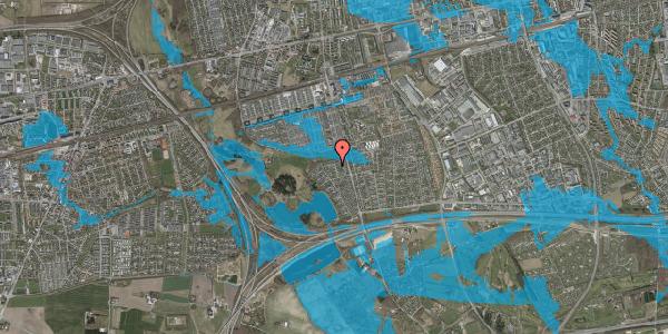 Oversvømmelsesrisiko fra vandløb på Løkketoften 27, 2625 Vallensbæk