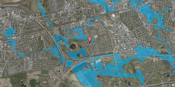 Oversvømmelsesrisiko fra vandløb på Løkketoften 28, 2625 Vallensbæk