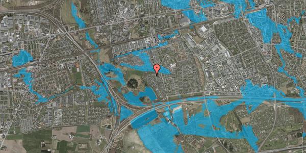 Oversvømmelsesrisiko fra vandløb på Løkketoften 33, 2625 Vallensbæk
