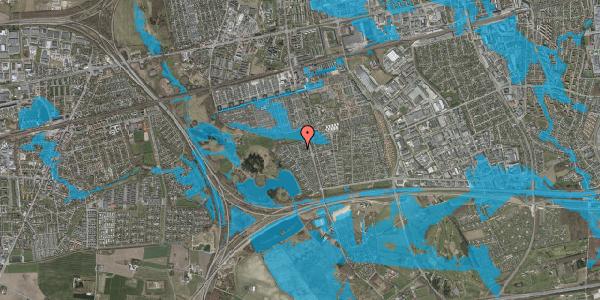 Oversvømmelsesrisiko fra vandløb på Løkketoften 34, 2625 Vallensbæk