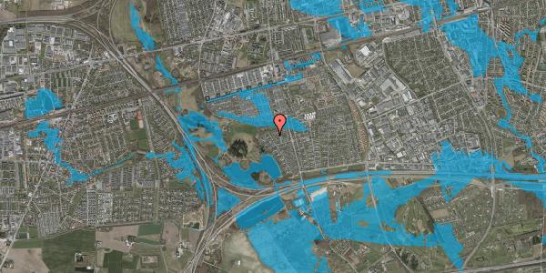 Oversvømmelsesrisiko fra vandløb på Løkketoften 35, 2625 Vallensbæk