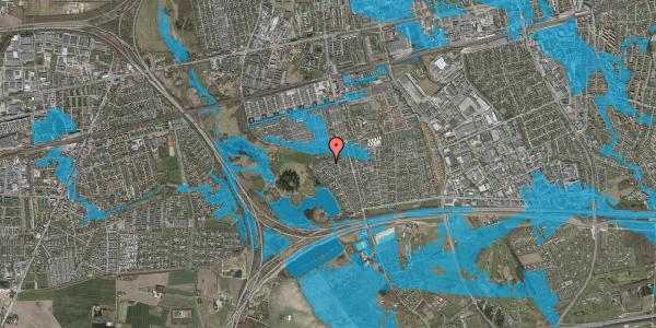 Oversvømmelsesrisiko fra vandløb på Løkketoften 41, 2625 Vallensbæk