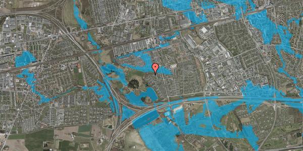 Oversvømmelsesrisiko fra vandløb på Løkketoften 43, 2625 Vallensbæk