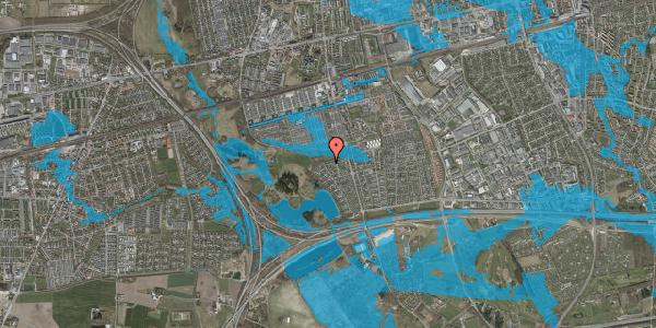 Oversvømmelsesrisiko fra vandløb på Løkketoften 45, 2625 Vallensbæk