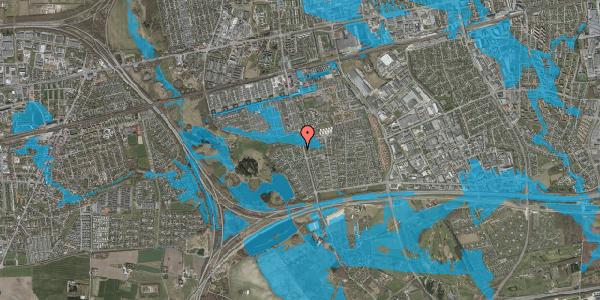 Oversvømmelsesrisiko fra vandløb på Løkketoften 48, 2625 Vallensbæk