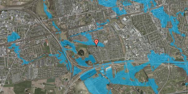 Oversvømmelsesrisiko fra vandløb på Løkketoften 51, 2625 Vallensbæk