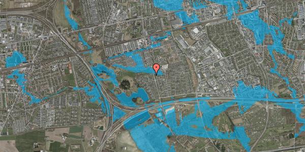 Oversvømmelsesrisiko fra vandløb på Løkketoften 52, 2625 Vallensbæk