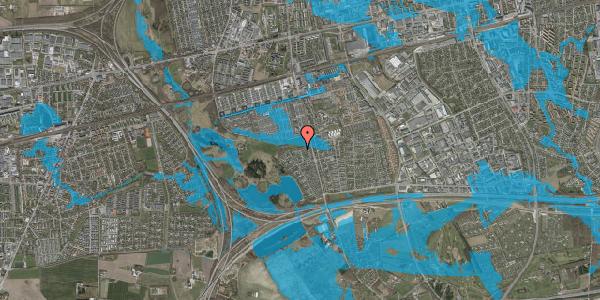 Oversvømmelsesrisiko fra vandløb på Løkketoften 55, 2625 Vallensbæk