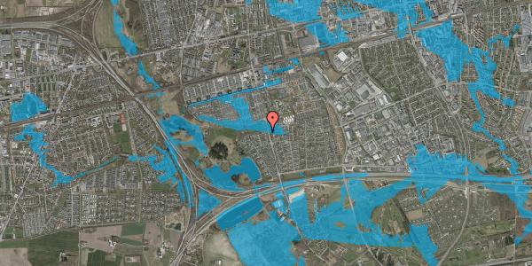 Oversvømmelsesrisiko fra vandløb på Løkketoften 56, 2625 Vallensbæk