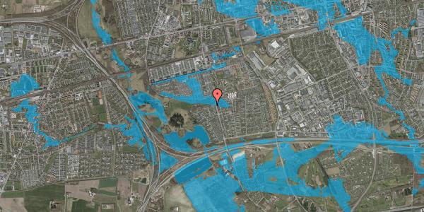 Oversvømmelsesrisiko fra vandløb på Løkketoften 62, 2625 Vallensbæk
