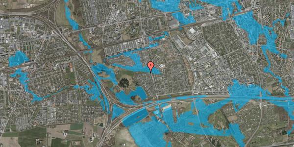 Oversvømmelsesrisiko fra vandløb på Løkketoften 66, 2625 Vallensbæk