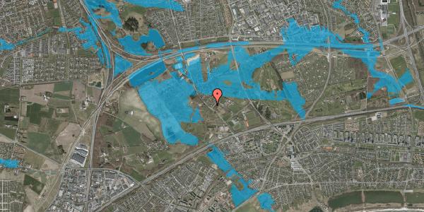Oversvømmelsesrisiko fra vandløb på Møllestensvej 1, 2625 Vallensbæk