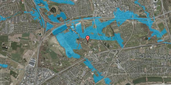 Oversvømmelsesrisiko fra vandløb på Møllestensvej 3, 2625 Vallensbæk
