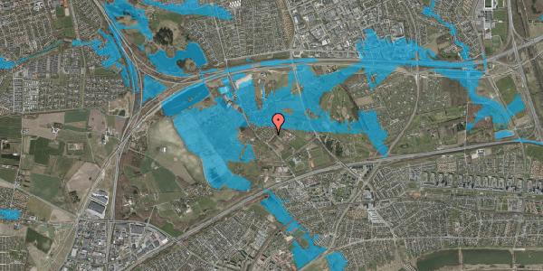 Oversvømmelsesrisiko fra vandløb på Møllestensvej 6, 2625 Vallensbæk