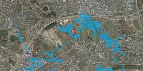 Oversvømmelsesrisiko fra vandløb på Møllestensvej 7, 2625 Vallensbæk