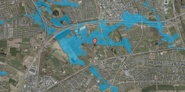 Oversvømmelsesrisiko fra vandløb på Møllestensvej 8, 2625 Vallensbæk
