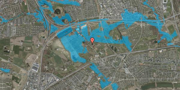 Oversvømmelsesrisiko fra vandløb på Møllestensvej 9, 2625 Vallensbæk