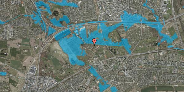 Oversvømmelsesrisiko fra vandløb på Møllestensvej 10, 2625 Vallensbæk