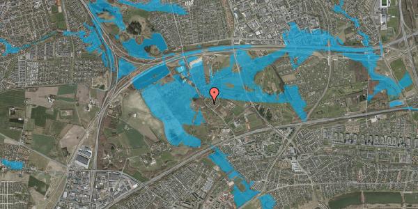 Oversvømmelsesrisiko fra vandløb på Møllestensvej 11, 2625 Vallensbæk