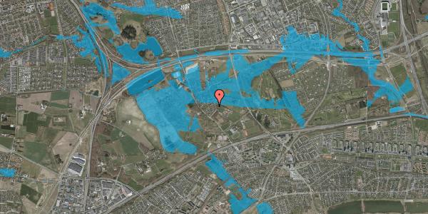 Oversvømmelsesrisiko fra vandløb på Møllestensvej 12, 2625 Vallensbæk
