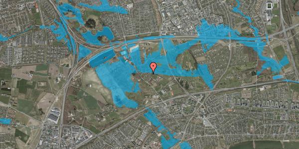 Oversvømmelsesrisiko fra vandløb på Møllestensvej 14, 2625 Vallensbæk