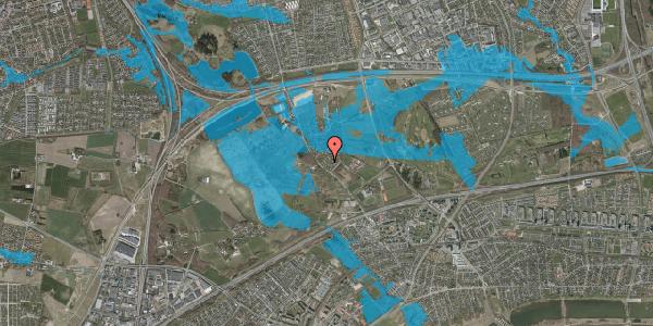 Oversvømmelsesrisiko fra vandløb på Møllestensvej 15, 2625 Vallensbæk