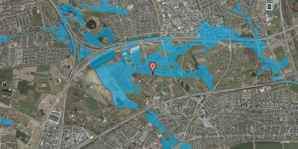 Oversvømmelsesrisiko fra vandløb på Møllestensvej 18, 2625 Vallensbæk