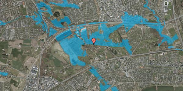 Oversvømmelsesrisiko fra vandløb på Møllestensvej 20, 2625 Vallensbæk