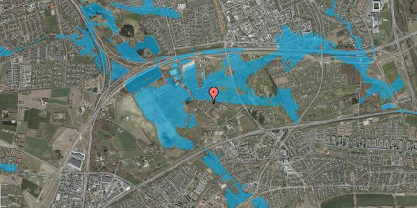 Oversvømmelsesrisiko fra vandløb på Møllestensvej 24, 2625 Vallensbæk