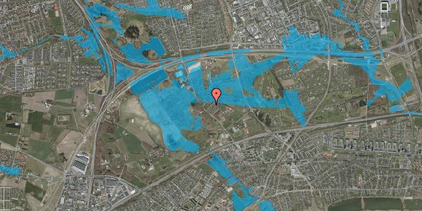 Oversvømmelsesrisiko fra vandløb på Møllestensvej 28, 2625 Vallensbæk