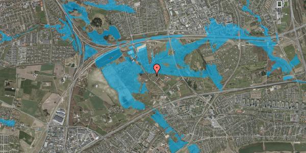 Oversvømmelsesrisiko fra vandløb på Møllestensvej 30, 2625 Vallensbæk