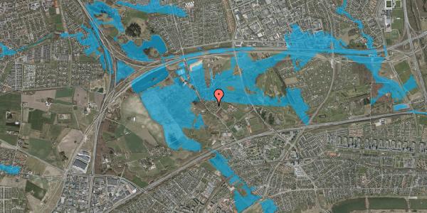 Oversvømmelsesrisiko fra vandløb på Møllestensvej 32, 2625 Vallensbæk