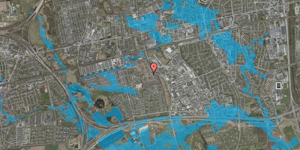 Oversvømmelsesrisiko fra vandløb på Nellikevænget 2, 2625 Vallensbæk