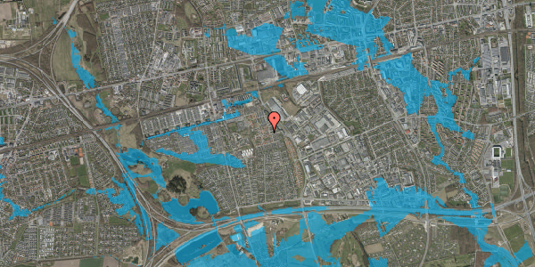 Oversvømmelsesrisiko fra vandløb på Nellikevænget 4, 2625 Vallensbæk