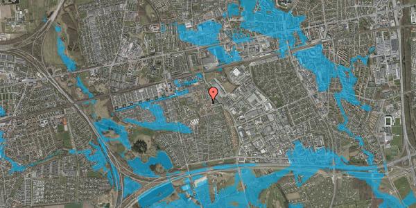 Oversvømmelsesrisiko fra vandløb på Nellikevænget 9, 2625 Vallensbæk