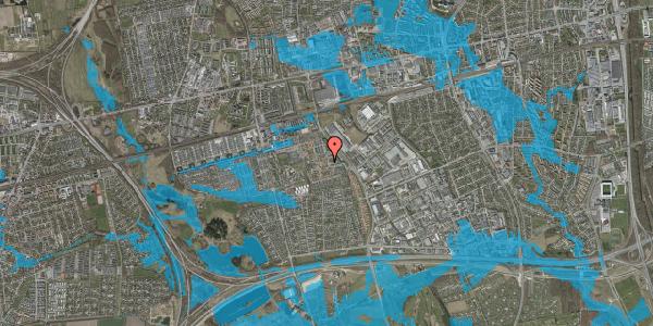 Oversvømmelsesrisiko fra vandløb på Nellikevænget 10, 2625 Vallensbæk