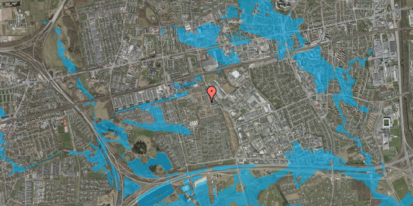 Oversvømmelsesrisiko fra vandløb på Nellikevænget 13, 2625 Vallensbæk