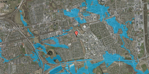 Oversvømmelsesrisiko fra vandløb på Nellikevænget 15, 2625 Vallensbæk