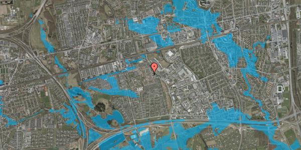 Oversvømmelsesrisiko fra vandløb på Nellikevænget 16, 2625 Vallensbæk