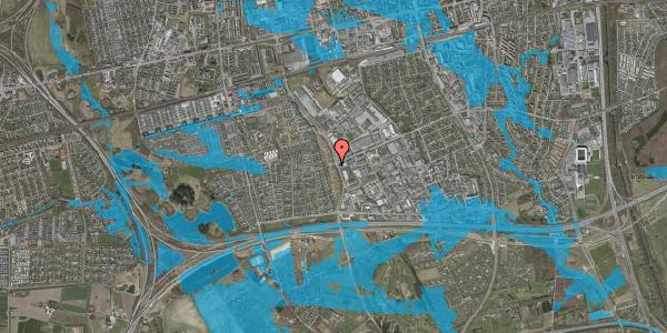 Oversvømmelsesrisiko fra vandløb på Nordmarksvænge 3, 2625 Vallensbæk